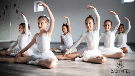 Kids participating in their extracurricular hobby, dance